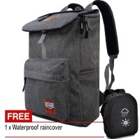 Tas Pria/Wanita CMH01 Tas Ransel Laptop Tas Punggung Backpack - Black