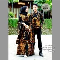 Couple Batik Gamis Lowo Seragam Batik Keluarga Modern Baju Batik Pesta