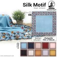 Jilbab Segi Empat Silk Motif