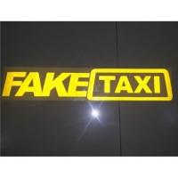 Cutting Sticker / Stiker Kaca Mobil FAKE TAXI