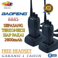 SEPASANG Handy Talkie Radio HT WalkyTalky Baofeng BF 888s Free Headset