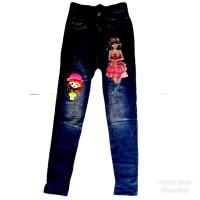 Celana Panjang Anak Perempuan Leging Legging Celana semi jeans M 5-7 Y