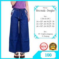 Celana Kulot Anak 7-12TH Bahan Jeans Motif Polos