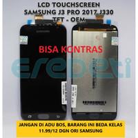 LCD TOUCHSCREEN SAMSUNG J3 PRO J3 2017 J330 TFT - OEM KD-002884 - Biru Muda