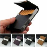 Kotak Penyimpanan Rokok 20 Slot Bahan Kulit PU IMPOR TERMURAH