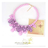 Kalung Necklace Statement Classic Flower (RT7CA5F)