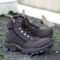 KICKERS Sepatu Pria Boots Safety Morisey Coklat Tracking Ziper