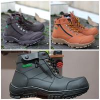 sepatu pria boots safety KICKERS MORISEY boots tracking ujung besi