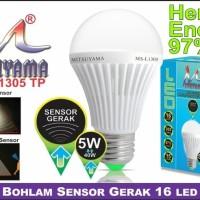 Lampu Bohlam sensor gerak 5 watt Mitsuyama Ms L1305