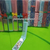 souvenir kaca sisir mika/souvenir pernikahan/souvenir murah