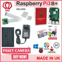Raspberry Pi3 Pi 3 Model b+ 3b+ Plus Paket Camera Rekam Foto Video - tanpa micro sd