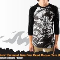 T-Shirt Raglan Fullprint LUFFY ELEPHANT GUN
