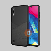 Case Samsung Galaxy M10 A10 Casing Slim Business Leather Pattern