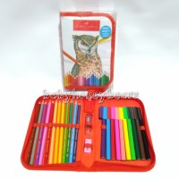 Creative Colouring set Faber Castell Connector pen + Pensil warna