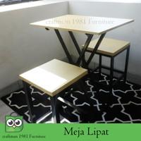Meja Makan Cafe 50x50x70c Meja Lipat Jualan