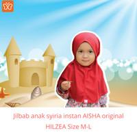 Jilbab anak Cewek SD/syiria instan anak AISHA original HILZEA size M-L