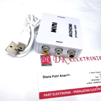 CONVERTER Video AV RCA Port to HDMI TV Full HD ke Konverter DVD Kabel