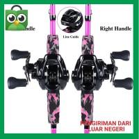 Promo Sougayilang Fishing Rod Reel Set 1.8M Baitcasting Fishing Rod