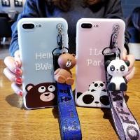 Casing HP iPhone 5 5S SE 6 6S 7 8 Plus Cute Panda Bwar Soft Silicone C