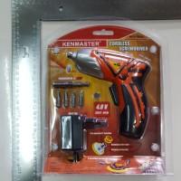 KENMASTER Mesin Obeng Bor Baterai Cordless 4.8 V Drill 2 Mode