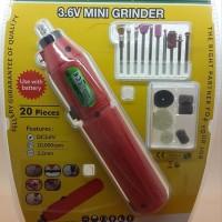 Rechargeable 3.6V 20 Pcs SELLERY Mini Drill Bor Grinder GERINDA prohex