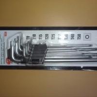 MOLLAR BINTANG Kunci L Panjang 9 Set extra LONG skls nankai tekiro