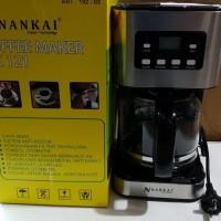 NANKAI Coffee Maker Alat Pembuat Kopi Mesin 1.5 L Black Decker nescafe