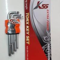 K55 Kunci L BINTANG Panjang 9 Pcs skls nankai tekiro mollar