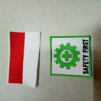 logo safety first dan bendera-putih