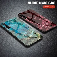 Marble Glass Case Samsung Galaxy A50 SamsungA50 Back Cover Casing
