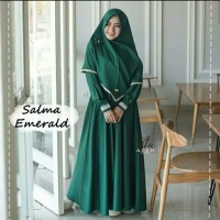 Pakaian Baju Busana Muslim Wanita SALMA Setelan Gamis Syari Terbaru