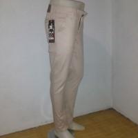 Celana Chino Panjang Pria / Celana Chino Slimfit Cream Bahan Strech