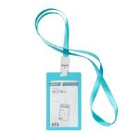 Bantex ID Card Holder Larnyard 54x90mm Portarit Sky Blue #8865 23