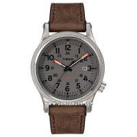 Timex TW2T33300 Allied LT Grey Dial Brown Leather Strap