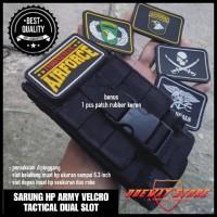 TAS PINGGANG/DOMPET/SARUNG HP ARMY 5,5 DUAL SLOT PLUS PEREKAT
