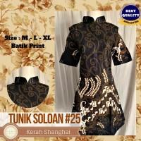 Dress Batik Murah, Tunik Batik Murah, Batik Print   Soloan Series #25 - M