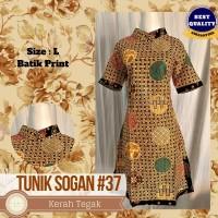 Dress Batik Murah, Tunik Batik Murah, Batik Print   Sogan Series #37 - L