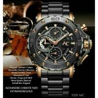 ALEXANDRE CHRISTIE AC 9205 PRIA COLLECTION ROSEGOLD BLACK ORIGINAL