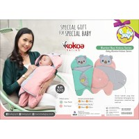 Selimut Bayi Baby Blanket Topi Kokoa Baby Joy BJB 5013