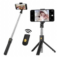 K07 Selfie Stick Tongsis With Bluetooth Tripod Standing