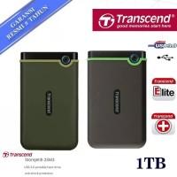 Transcend StoreJet 25M3 1TB USB 3.1 Military Green (Slim) External HDD