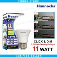 Hannochs Click and Dim 11watt Lampu Bohlam LED 3 Pilihan Tingkat Teran