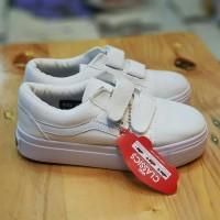vans old skool all white sepatu anak vans kids