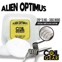 Coil Gear Alien Optimus Ni80 1 Pasang 28Gx3+36G Kawat Vape Vapor Oten