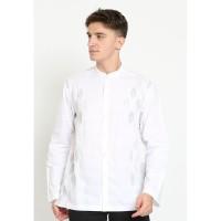 Jobb Zayid Baju Koko Pria Lengan Panjang Regular Fit Putih