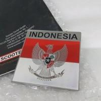 Sticker Metal Burung Garuda Indonesia Vespa Mobil Car Motor Badge Embl