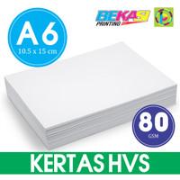 Kertas HVS 80 GSM Ukuran A6 (10,5 x 15 cm) - Per Pack Isi 100 Lembar