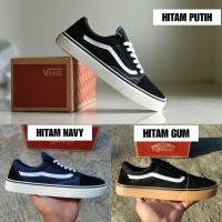 Sepatu Vans Old Skool Premium BNIB Hitam Putih / Sneakers Casual Pria
