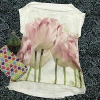 preloved floral print top import / atasan blouse branded korean look