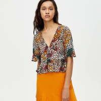 Baju Atasan Blouse Korea Colored Leopard (M) Import